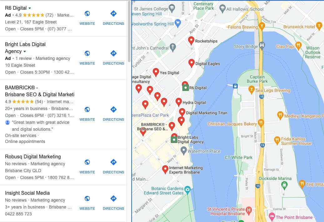 google maps r6 digital in brisbane