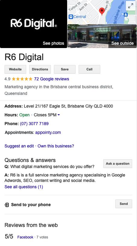screenshot of Google R6 Digital preview review